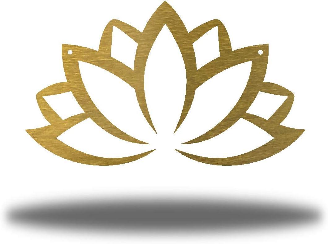 Riverside Designs Lotus 店内限界値引き中&セルフラッピング無料 Flower Metal Outdoor Art Decor Wall 品質保証 Yard