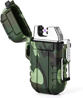 LIANTRAL Electric Arc Lighters, USB Rechargeable Windproof Flameless Lighter Plasma Lighter for Fire, Candle (Camouflage)