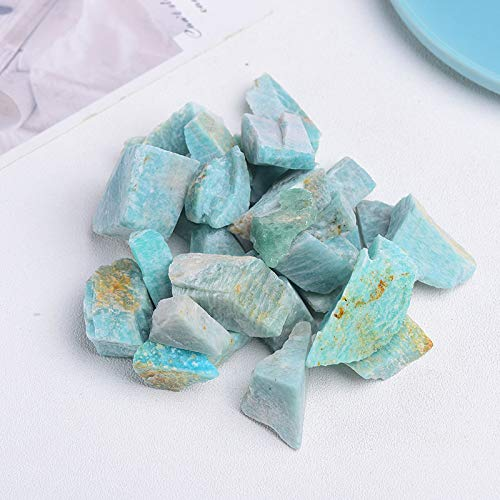 NUJA 1Pole Minnerales de Cuarzo Natural Espécimen Amatista Rose Cuarzo Cristales crudos Lregular Forma Rough Rock Stone Reiki Healing Casation Decorati (Color : Amazon Stone, tamaño : 100g)