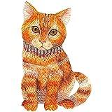 YHZQ Rompecabezas De Madera para Adultos Niños, Búho/Ardilla/Gato/Dragón/Loro Puzzles Únicos Forma Animal, Juego Educativo Familiar Rompecabezas Regalo para Niños Cat-A3
