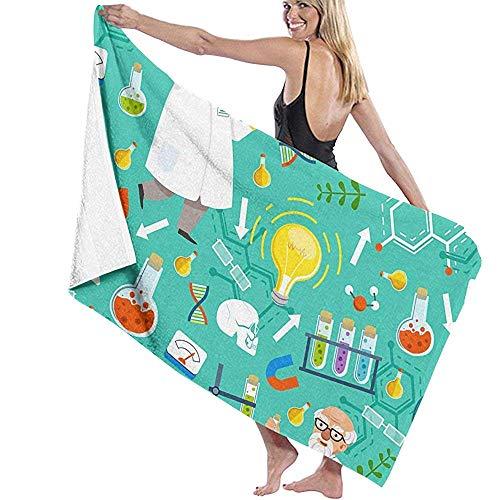 Toallas De Playa,Toallas De Mano,Beach Towel,Toallas De Baño,Toallas,Bath Towel,Diferentes Herramientas Químicas O Biológicas Profesor Toalla De Baño Altamente Absorbente Personalizada Para Mujer