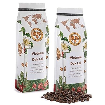 EXPLORE THE WORLD COFFEE Vietnam Dak Lak - 500 Gramm ganze Kaffeebohnen