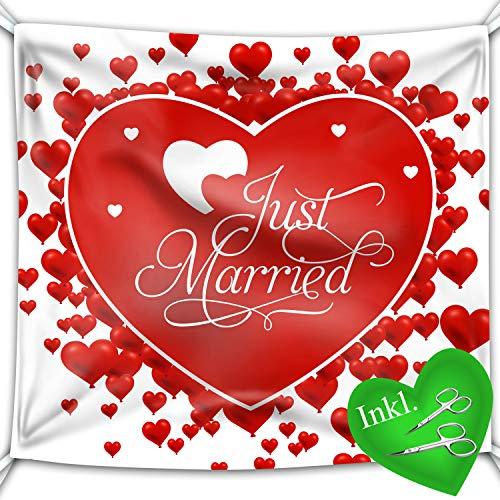 WTB Corazón de boda para los novios, incluye 2 tijeras para uñas,...