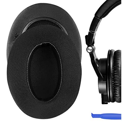 Geekria Almohadillas de Repuesto de Gel refrigerante Sport para Auriculares Audio-Technica ATH M50X, M50XBT, M50, M40X, M30, M20, M10, Piezas de reparación de Almohadillas para Auriculares (Negro)