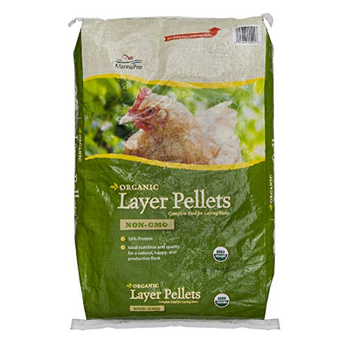 Manna Pro Layer Pellets for Chickens | Non-GMO & Organic High Protein Feed for Laying...