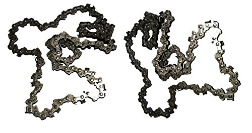 Forester Chainsaw Replacement Chain Chicago 68862 Pole Saw 8 Inch Fits Saws 3/8inch LP Pitch .050gauge 33DL 2 Pack