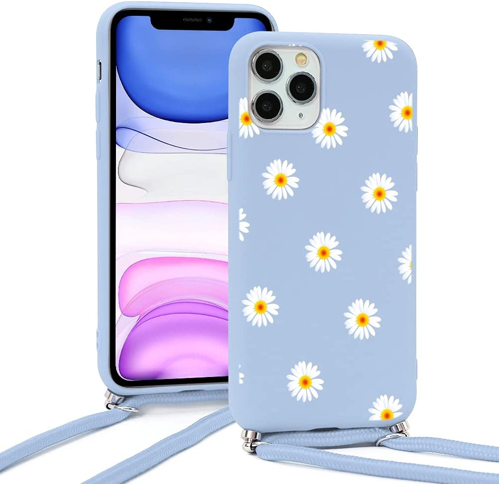 Yoedge Crossbody Case for Huawei P30 Pro, Neck Cord Phone Case with Adjustable Lanyard Strap, Soft TPU Silicone with Cute Pattern Cover Compatible with Huawei P30 Pro [6.47