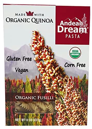 Andean Dream Organic Quinoa Fusilli Pasta, 8 Ounce -- 12 per case.12