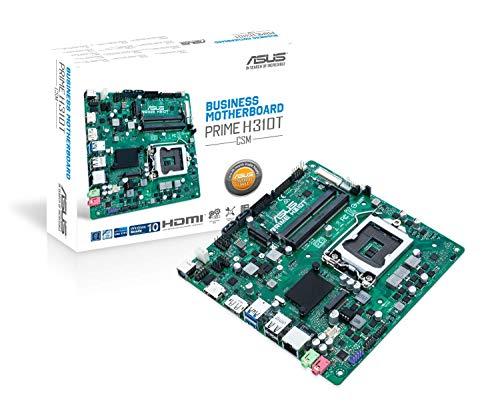 Asus PRIME H310T/CSM Scheda Madre Aziendale Thin Mini ITX H310 con Sicurezza, Affidabilità e Gestibilità, Nero