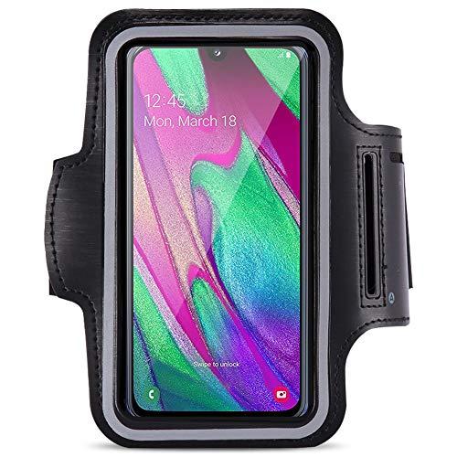 Jogging Tasche kompatibel für Samsung Galaxy A40 Handy Hülle Sport Lauf Armband Fitnesstasche