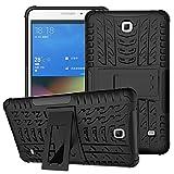 XITODA Funda para Samsung Galaxy Tab 4 7.0, Hybrid TPU Silicone & Duro PC Protección Cover para Samsung Galaxy Tab 4 7.0 Pulgadas SM-T230/T231/T235 Tablet Case Funda con Kickstand/Stand - Negro