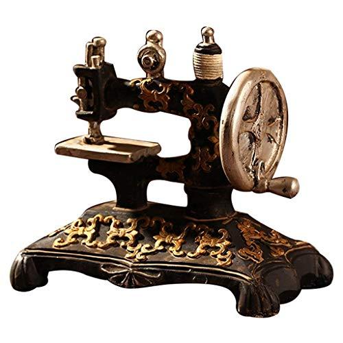 FTFTO Living Equipment Máquina de Coser Retro clásica Modelo Adornos Muebles de Resina Máquina de Coser Antigua Artesanía en Miniatura Bar Café Decoración del hogar Regalos