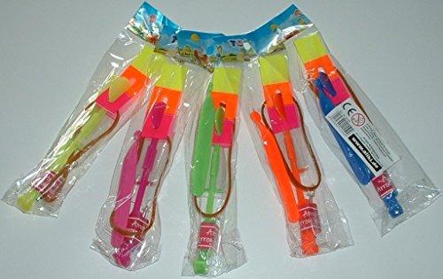 6 Stück - LED Katapult - 16 cm lang, Leucht-Abzieher, Flitsche, Flieger