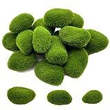 Musgo Artificial Decoracion Moss Rock Kit Faux Mini Moss Stone Tres Tamaños 16 Piezas