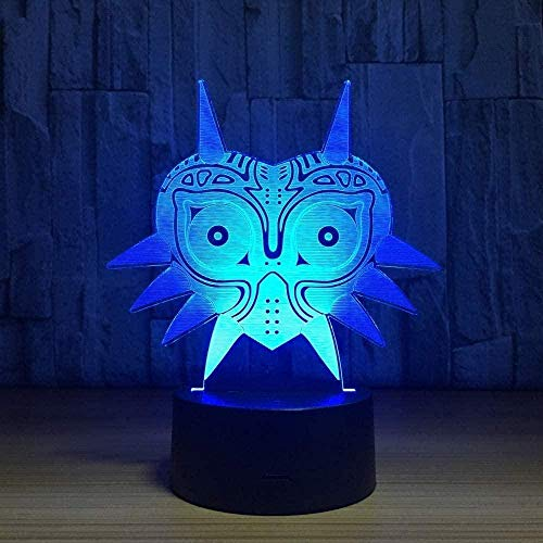 YOUPING Lámpara táctil 3D Bluetooth para mesita de noche con ilusión 3D LED luz nocturna L7 colores cambiantes de luz nocturna lámpara de mesa Navidad regalos de cumpleaños para niños niñas