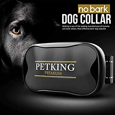 Anti Bark Collar for Small Large Dogs No Shock Bark Collars Dog Anti Barking Device Training Dog Barking Collar Stop Barking Deterrent Device No Bark Collar Auto Remote Sound Vibration Barking Collars