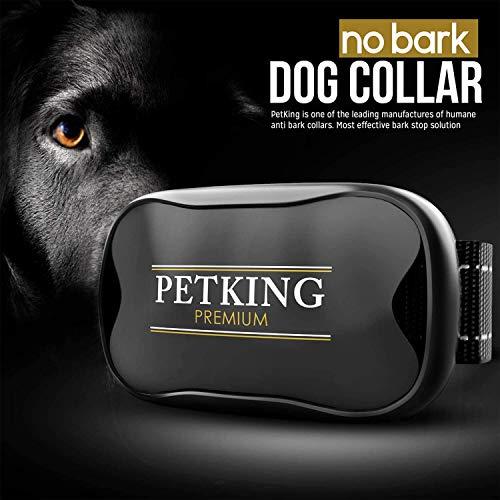 Anti Bark Collar for Small Large Dogs No Shock Bark Collars Dog Anti Barking Device Training Dog Barking Collar Stop Barking Deterrent Device No Bark Collar Auto Remote Sound Vibration Barking Collars