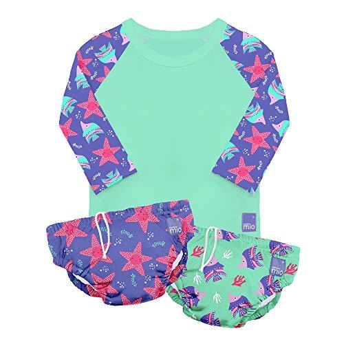 Bambino Mio SWSETM VIO, Schwimm Set, Violett, M (6-12 Monate), mehrfarbig