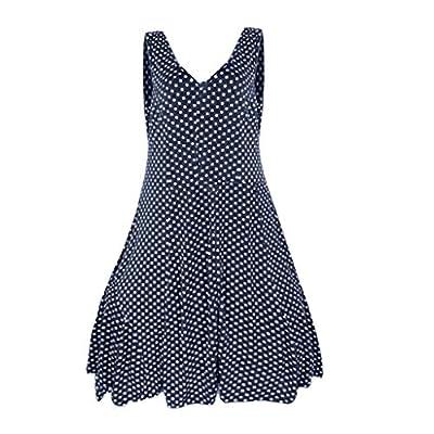 RAINED-Womens Sleeveless Chiffon Blouses Layered Dot Tunic Tops Office Shirt Casual Vest Cami Tank Tops Beachwear