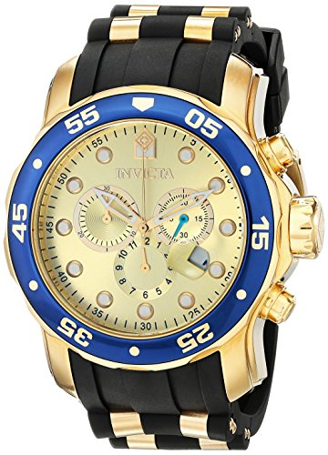 Invicta Men's 17881 Pro Diver Analog Display Swiss Quartz Black Watch