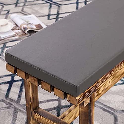Waigg Kii - Cuscino per panca da esterni, in pelle, impermeabile, 2/3 posti, per panca da giardino, tappetino per sedie a sdraio, per patio, dondolo (150 x 40 x 3 cm, grigio scuro)