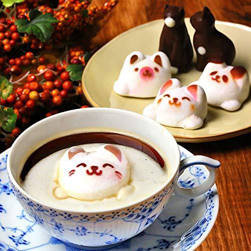 Latte マシュマロ ラテマル 3個 ねこ チョコレート 2個 動物 スイーツ お菓子 詰め合わせ お家の箱入り