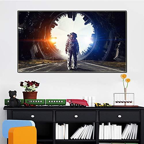 Puzzle 1000 Piezas Cuadro Decorativo Femenino Espacio Astronauta Imagen de Personaje Imagen Puzzle 1000 Piezas Adultos Juego de Habilidad para Toda la Familia, Colorido juego50x75cm(20x30inch)