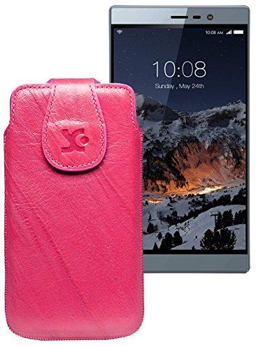 Original Suncase Tasche für Switel eSmart M3 | Leder Etui Handytasche Ledertasche Schutzhülle Hülle Hülle / in wash-pink