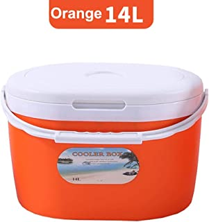 14L Cooler Box, Portable Car Cold Box Food Storage Box Fishing Box, Hot Or Cold Cool Box for Camping Beach Lunch Picnic