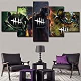HSART Modern 5 Pieces Modular Pictures Game Dead by Daylight Poster Living Room Wall Art Home Decorative Canvas Print Painting,A,40x60x2+40x100x1+40x80x2