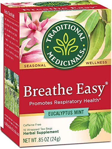 Traditional Medicinals Breathe Easy Tea, 16 Count Tea Bags