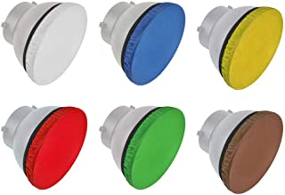 Fotoconic 18 Zoll 180 mm Licht Diffusor Socke für Standard Reflektor für Studio Stroboskop, Bowen Mount Reflektor, passend für Godox AD R6, Rot, Gelb, Blau, Braun, Grün und Weiß, 6 Stück