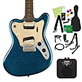 Squier by Fender Paranormal Super-Sonic Laurel Fingerboard Pearloid Pickguard Blue Sparkle エレキギター初心者14点セット 【ミニアンプ付き】 スクワイヤー/スクワイア