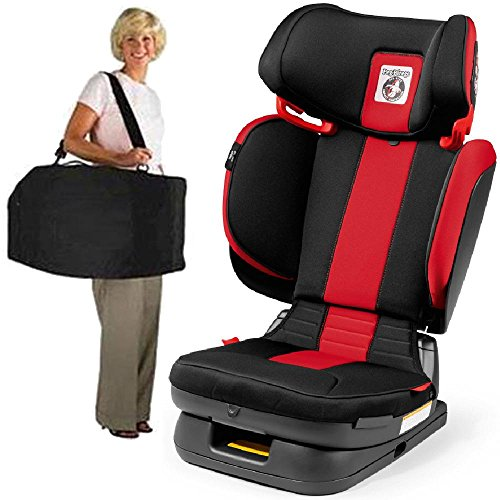 Find Discount Peg Perego Carry Viaggio Flex 120 Child Booster Seat with Carrying Bag Monza