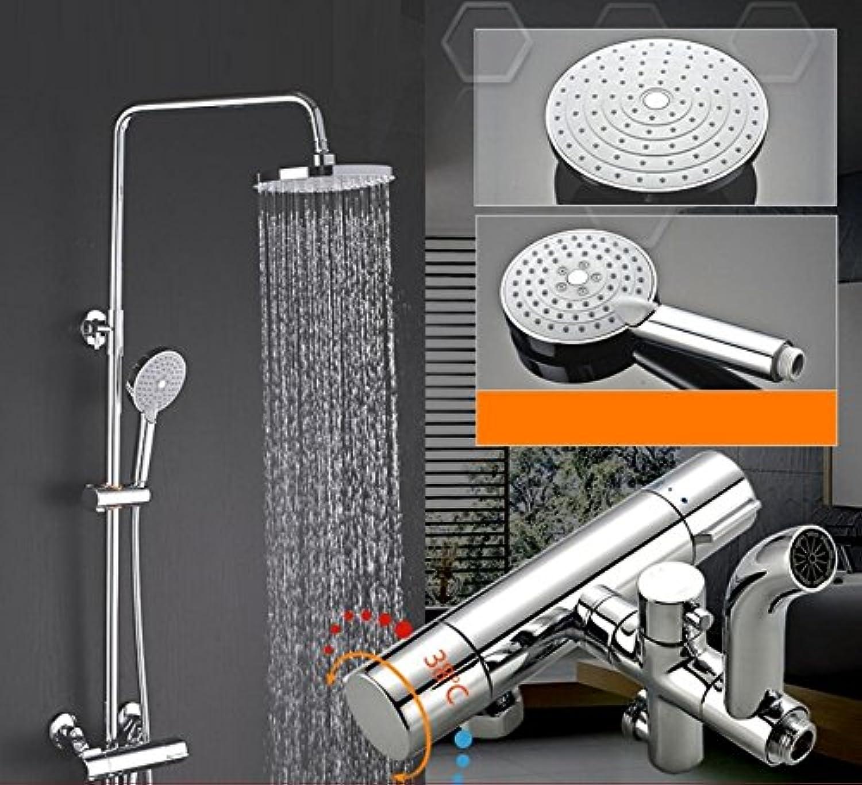 ZHFC Luxus Regen Mixer Dusche Combo Set Badezimmerwand Niederschlag Dusche Kopf System, Multi-funktionale Wasserspar-groe AreaShower Wasserhahn montiert