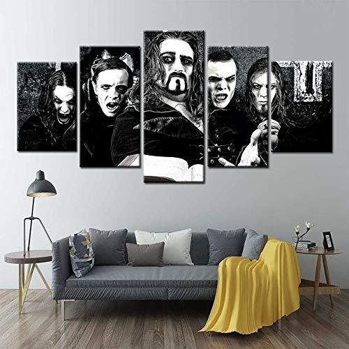 Poster druckt Powerwolf Band Star Wandkunst Gemälde 5 Stück Leinwand Kunst Wandbilder für Wohnzimmer Home Decor Modulare Bilder(size 3)