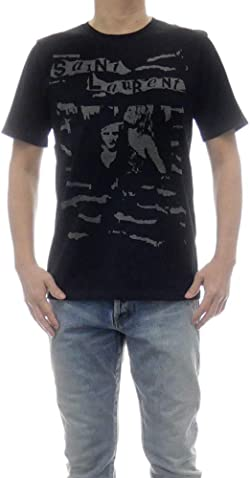 [SAINT LAURENT PARIS(サンローランパリ)] クルーネックTシャツ 601548 YBOF2 メンズ [並行輸入品]