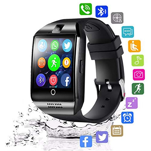 KID Love Bluetooth smartwatch voor mannen/Q18 met camera Facebook WhatsApp, Twitter Sync SMS Smartwatch ondersteuning SIM-TF-kaart voor iOS en Android