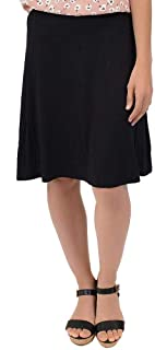 Stretch is Comfort Knee Length A-Line Flowy Skirt | Comfortable Clothes for Women and Girls | S-5XL