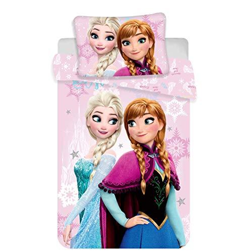 Jerry Fabrics Disney Frozen Babybett-Set, Baumwolle, Mehrfarbig, Größe 40 x 60 + 100 x 135 cm