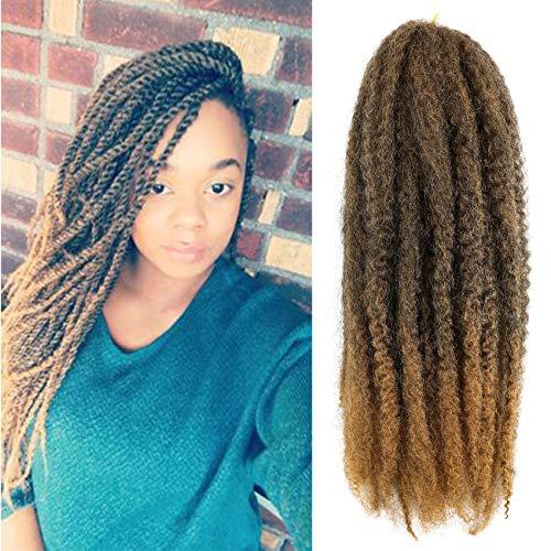 Callia Marley Hair For Twists 6 Packs Marley braiding Hair 20' Afro Kinky Marley Twist Braid Hair Extensions (20Inch, T1B-27)