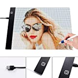 A4 LED Light Pad Board Adjustable LED Light Tablet Portable USB Charging for 5D Diamond Painting Kits