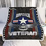 personalized gifts for Air Force Veteran American Fleece Blanket Gifts for Birthday,Valentine,Thanksgiving