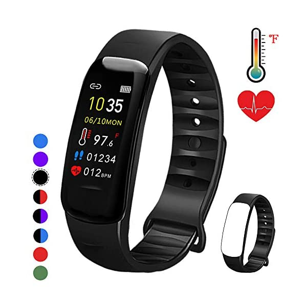 Fitness Tracker with Oxygen Monitor,Activity Tracker Watch with Body Temperature...