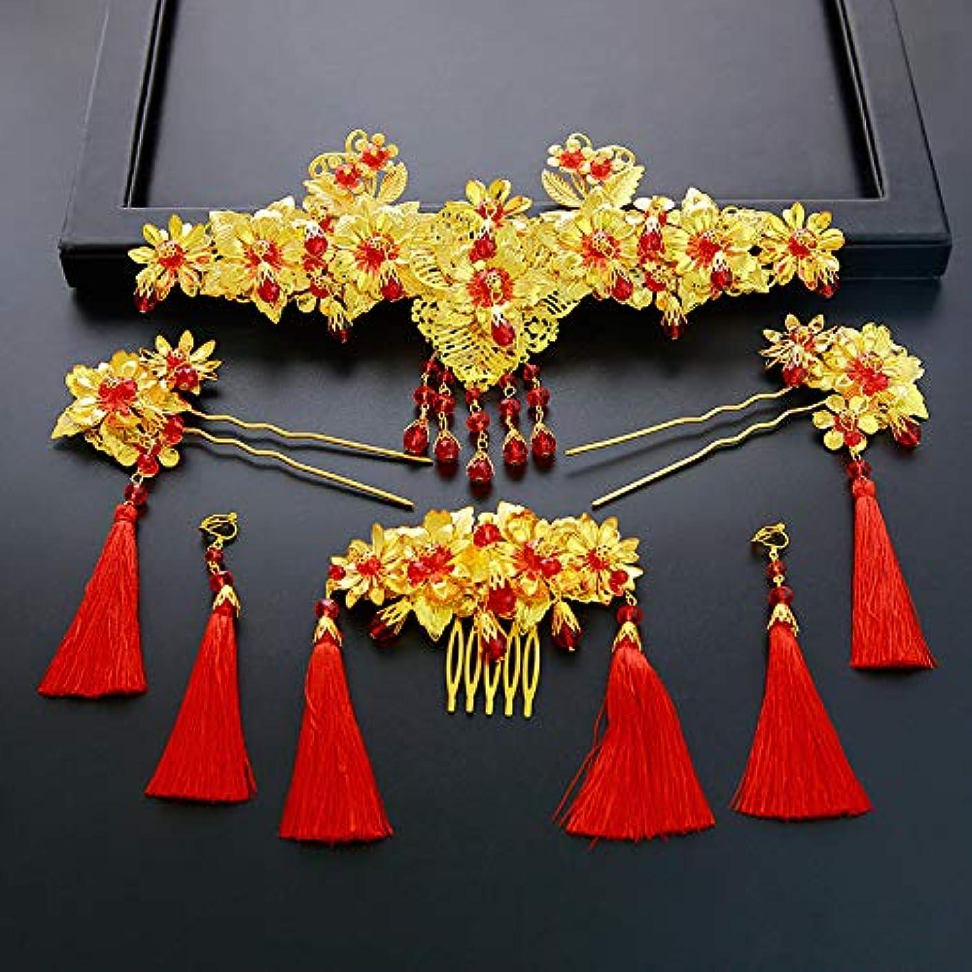 したいケントスリンクHuaQingPiJu-JP 古典的なヘアピン中国のスタイルハンドメイドヘアピンヴィンテージヘアクリップ(金)