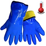 Frogwear 8490 Insulated & Waterproof Blue Tripple Dipped Work Gloves, Ultra Flexible, Chemical & Oil...