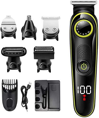 Haartrimmer Mannen Draadloze professionele tondeuse Verzorgingsset Stille USB Oplaadbare elektrische tondeuse voor kinderen en volwassen baardtrimmer