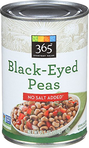 365 Everyday Value, Black-Eyed Peas, No Salt Added, 15.5 oz