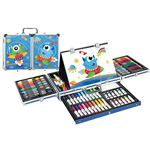 liuzecai Watercolour Brush Pens 135pcs Art Set Children Watercolor Pen Stationery Set Painting Watercolor Drawing Tools Kids For Gift Box Office Stationery for Painting, Coloring, Sketching