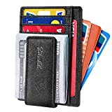 Zitahli Slim & Minimalist Bifold Front Pocket Wallet with Strong Magnet Money Clip for men,Effective RFID Blocking & Anti-magnetic